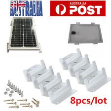 Solar Panel Z bracket Mounting Mount Flat Roof Wall Aluminum Set 8 pcs Kit AU