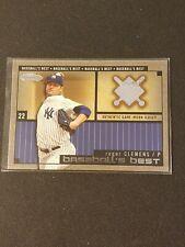 2002 Fleer Showcase Baseball's Best Jersey #9 Roger Clemens New York Yankees