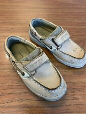 Sperry Bluefish Boat Shoes, Hook And Loop Closure, Boys 10.5 M