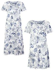 M&S Cool Comfort Cotton Modal Short Sleeve Shell Design Nightdress Size 6 to 26