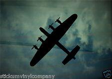 Único Avro Lancaster Bomber coche calcomanía / etiqueta adhesiva * bbmf * * Segunda Guerra Mundial * * Lancaster Bomber *