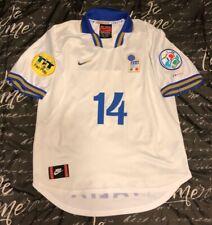 Authentic Italy Soccer Jersey Maglia Retro UEFA Euro 96' Del Piero UEFA Size L