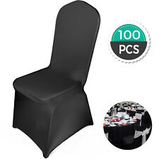 100x universell Stuhlhussen Stretch Stuhl Hochzeit Party langlebig schwarz