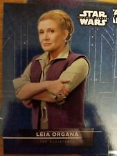 2016 Star Wars The Force Awakens Series 2 #6 Leia Organa Sticker Card