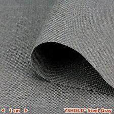 YSHIELD® Abschirmstoff STEEL-GRAY | HF+NF | Breite 150 cm | 1 Laufmeter | Elektr