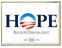 Official Barack Obama 2008 Hope Lapel Pin 1'' x 3/4''