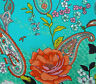"""45"""" Wide Cotton Floral Printed Blue Dressmaking Fabric Quilting Craft By 1 Yd"""