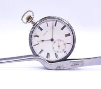ZENITH Military Pocket Watch Silver Niello With Gold Ship 1916 Marine Works