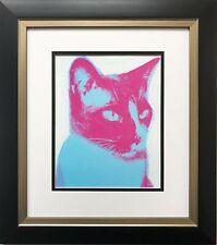 "Andy Warhol ""Cat"" 1976 CUSTOM FRAMED Pop Art Lithograph NEW Feline Psychedelic"