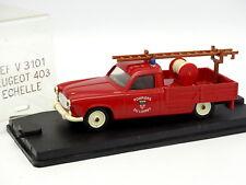 Verem Resina 1/43 - Peugeot 403 Pick Up Scala Vigili Del Fuoco Del Loiret