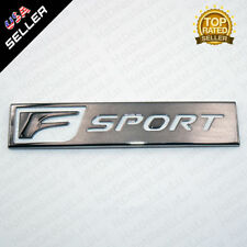NEW Lexus Chrome F-Sport Logo ABS Badge Trunk Marker 3D Emblem Decoration