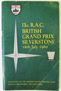 SILVERSTONE 16 Jul 1960 British Grand Prix Official Programme