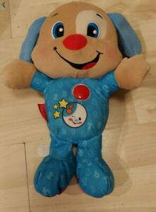 """Fisher Price Tummy Talking Dog Interactive Educational Learning 12"""" bedtime"""