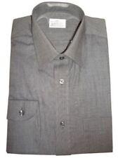 Camicie classiche da uomo grigie regolare in cotone