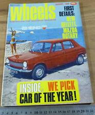 1968.WHEELS.VE Valiant Car of the Year! Cortina 440 VW MAZDA HUNTER.Colt Morris
