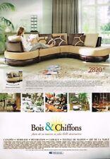 B- Publicité Advertising 2008 Meubles Mobilier canapé Bois & Chiffons