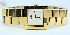D&G DOLCE & GABBANA TIME GOLD TONE WOMENS BRACELET WRIST WATCH WORKING
