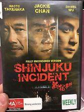 Shinjuku Incident ex-rental region 4 DVD (2009 Jackie Chan Hong Kong movie) RARE