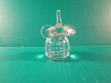 Crystal Clear Glass Elephant Figurine Paperweight