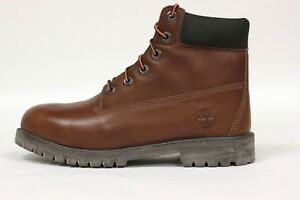 """Timberland Juniors' 6"""" Premium Waterproof Leather Boot NEW AUTHENTIC Brown 9591R"""