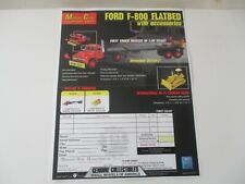 First Gear FORD F-800 TRACTOR+FLATBED+ACCESSORIES COLOR ORDER FORM