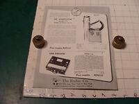 original Vintage 1955 Geiger Counter ad sheet: SCINTILLATOR super scintillator