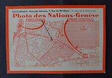 Publicité magasin Photo des nations Genève place Longemalle Photo cinéma 2
