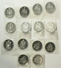 1978 to 2000W Canada 50 Cents Lot of 14 Sealed Unc #11753