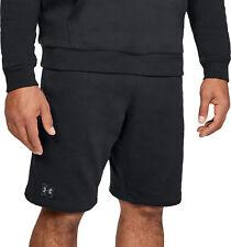 Under Armour Rival Mens Fleece Shorts - Black