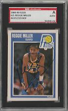 Reggie Miller 1989 Fleer signed auto autographed card SGC Certified