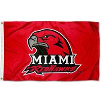 Miami University Redhawks Flag MU Large 3x5