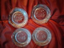 Historic Mount Vernon Embossed Glass Cup Plate / Coasters 4� set of 4