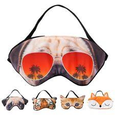 3D Animal Cartoon Sleeping Eye Mask Dog Portable For Outdoor Travel Adults Kids
