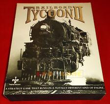 RAILROAD TYCOON II 2 Pc Versione Inglese 1ª Edizione Big Box ○ USATO - FH