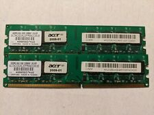 2 Acer DDR2-800 2GB 128Mx8