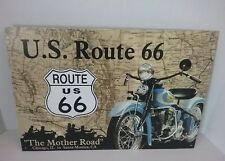Sign Us Route 66 The Mother Road Rt 66 Collectible Metal Motorcycle