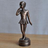 Girl Bronze Ballet Statue Sculpture Ornament Girl Dancer Degas NEW 34011