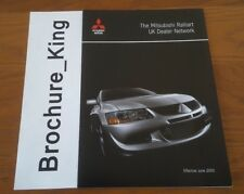 The Mitsubishi Ralliart UK Dealer Network Brochure June 2003 Evolution VII