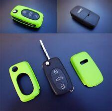 Für Audi Klapp Schlüssel Cover Key Cover Schlüssel Hülle Funk Fernbedienung Grün