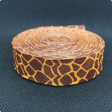 "7/8"" woven jacquard giraffe print ribbon"
