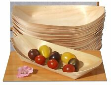 Party Disposable Plates Bamboo Wood Boats Large 50 pcs Food Snacks Eco Friendly