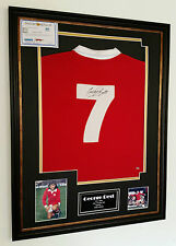 ** Rare George Best of Manchester United Firmato Camicia AUTOGRAFO Display **