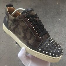 Authentic Christian Louboutin 43 9 Strass Spikes Sneakers Junior Rantus Black d