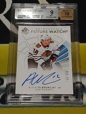 17/18 SP Authentic Alex DeBrincat Future Watch Auto 765/999 Blackhawks BGS 9 10