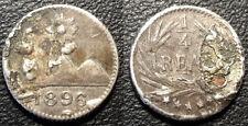 Guatemala - République - 1/4 de real 1896 fourré - KM#162