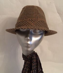 MENS TRILBY HAT WOOL CHECK FAILSWORTH WINSOR