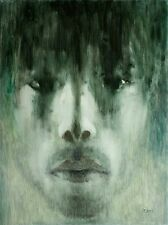 Male Portrait Contemporary Modern Signed_Original Oil Painting, ipalbus, Pojani