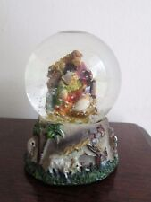 G. WURM [GERMANY] 18963 NATIVITY MINIATURE SNOW GLOBE, REAL GLASS, 9CM HEIGHT.