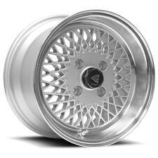 "Genuine Enkei 92 15x8"" Classic Wheel Silver Mesh 4x100 25 Offset"