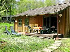 Urlaub im Wald-Blockhütte-Blockhaus-Ferienhaus-Holzhaus 200m bis zum See